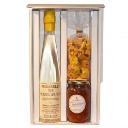 Gourmet box with Mirabelle eau de vie